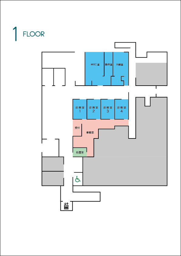 あんしん病院1階フロアマップ