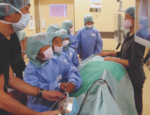 ポートピアホテル主催 手術体験教室